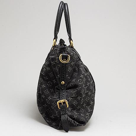 """Louis vuitton, """"neo cabby gm denim noir"""", väska"""