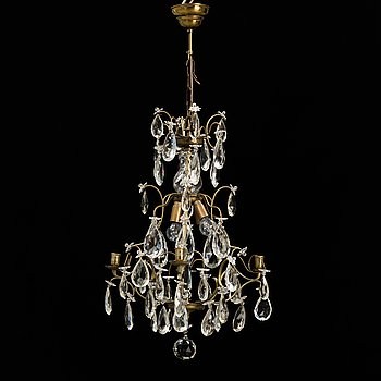 A 20th century baroque style chandelier.