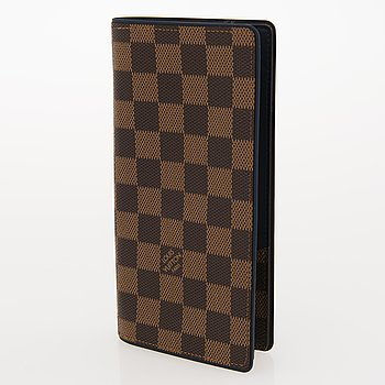 LOUIS VUITTON Damier Ebene Brazza Wallet.