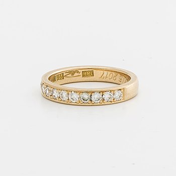 ETERNITY BAND 18K gold w 11 brillant-cut Diamonds approx 0,45 ct in total, Goldsmith Peter Billsten Malmö 2017.