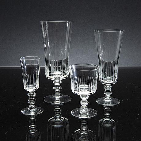 Bengt orup, a set of 36 pcs glass service.