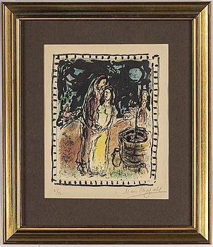 MARC CHAGALL, färglitografi, signerad Marc Chagall och numrerad 7/50 med blyerts. Utförd 1972.