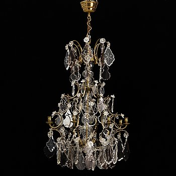 A baroque style chandelier, second half of the 20th century.