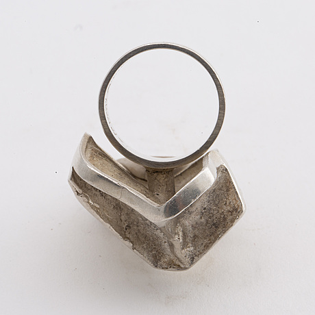 BjÖrn weckstrÖm, a sterling ring 1969, weight ca 15,4 gr