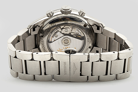 Longines   conquest classic chronograph moonphase armbandsur 41 mm