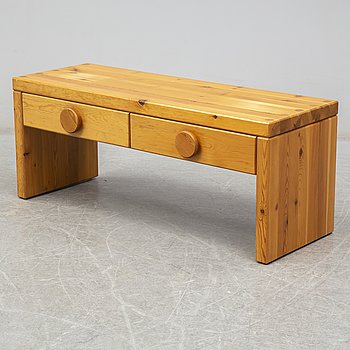 A pine bench, 1960's/70's.