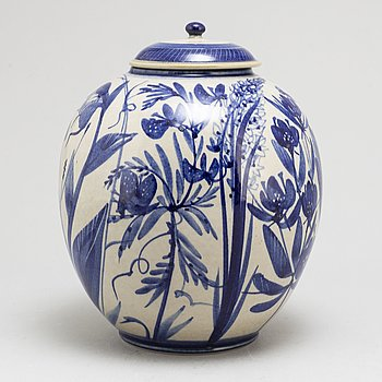 CARL-HARRY STÅLHANE, a stoneware jar with cover, signed, from Designhuset.