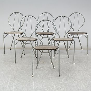 A set of six 'Pia' chairs by Tore Ahlsén for Gärsnäs.
