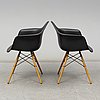 Charles & ray eames, a pair of 'daw' armchairs, vitra, 2017.