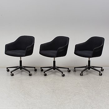RONAN & ERWAN BOUROULLEC, a set of three Softshell chairs, Vitra, 21th century.
