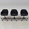 Ronan & erwan bouroullec, a set of three softshell chairs, vitra, 21th century
