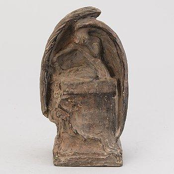VILLE VALLGREN, miniature sculpture, terracotta, signed and dated 1924.