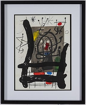 JOAN MIRÓ, colour lithographe, unsigned, from Derrière le Miroir nr 151-152, 1965.