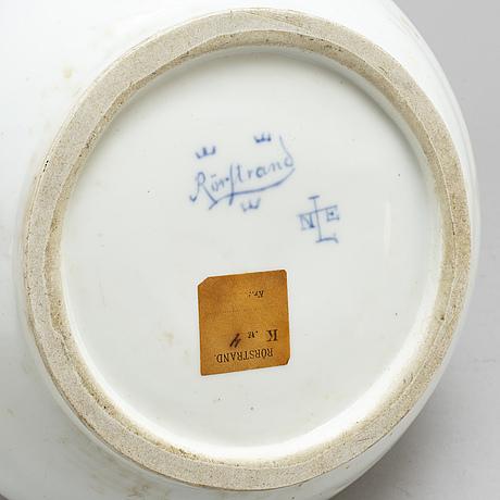 Nils emil lundstrÖm, an art nouveau porcelain vase from rörstrand, eraly 20th century