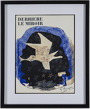 GEORGES BRAQUE, after, lithographe, signed in the matrix, from Derrière le miroir no 115.