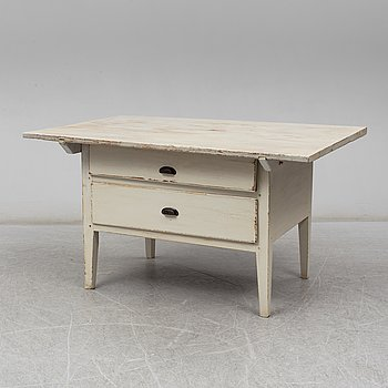 A painted pine table, first half of the 19th Century.