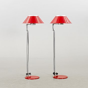 A pair of Anders Pehrson floor lamps.