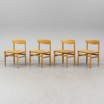 a set of four 'Öresund' chairs by Børge Mogensen for Firma Karl Andersson.