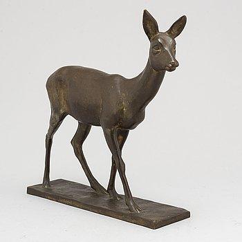 ARVID KNÖPPEL, Sculpture, bronze. Signed, foundry mark  E Pettersson.