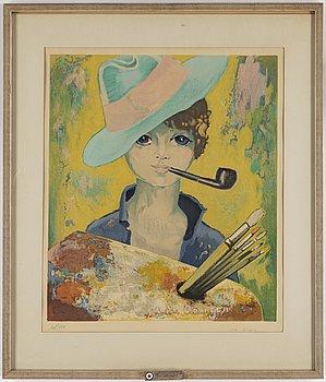 KEES VAN DONGEN, färglitografi, signerad van Dongen och numrerad 105/150.
