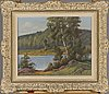 Arthur heickell, oil on canvas, signed
