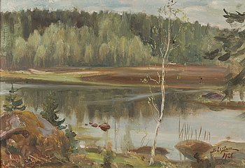 BERNDT LAGERSTAM, oil on canvas, signed and dated 1926.