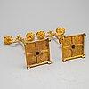 Kandelabrar, ett par, empirestil, tidigt 1900 tal
