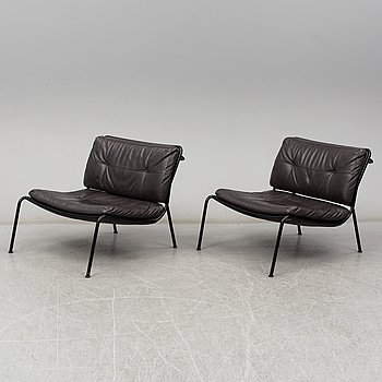 PIERO LISSONI, a pair of 'Frog' easy chairs, Living Divani.