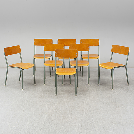 A set of eight chairs from grythyttan stålmöbler, late 20th century