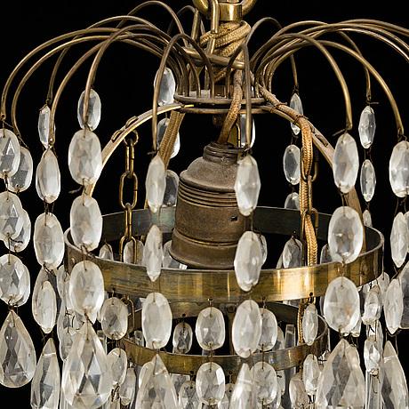 Ljuskrona, empirestil, 1900 talets mitt