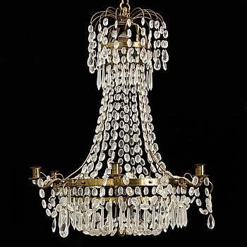 A mid 20th century empire style chandelier.