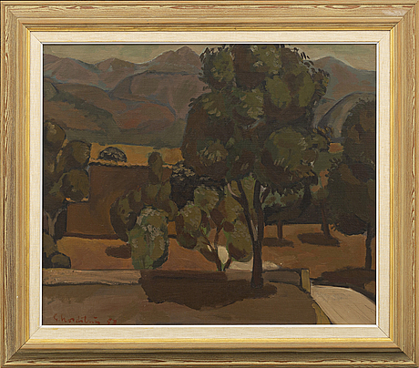 Gerhard nordstrÖm, a signed and dated oilpaining on canvas