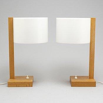 UNO & ÖSTEN KRISTIANSSON, bordslampor, ett par, Luxus, 1960-tal.