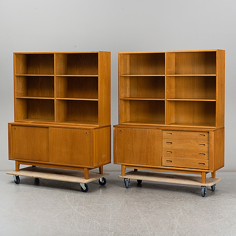 BØrge mogensen, two 'Öresund' oak bookcases from karl anderson & söner