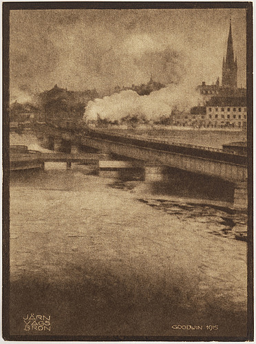 Henry b. goodwin,  two photo gravures from the book vårt vackra stockholm signed in the negative.