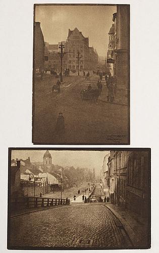 Henry b. goodwin, två fotogravyrer ur boken vårt vackra stockholm signerad i negativet.