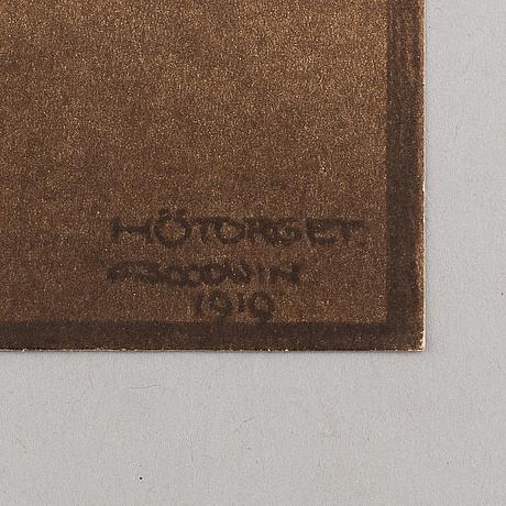 Henry b. goodwin, två fotogravyrer ur boken vårt vackra stockholm signerad i negativet. anglais hörn och hötorget.