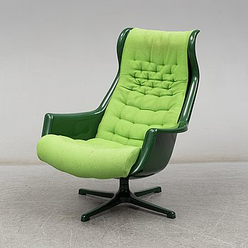 A 'Galaxy' easy chair by Alf Svensson & Yngvar Sandström, Dux, 1970's.
