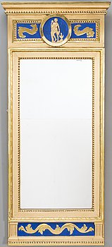 A MIRROR, Late Gustavian, late 18th century.