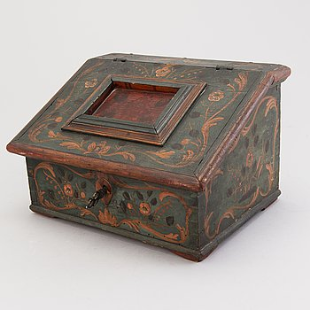 A small 18th Century wooden chest.
