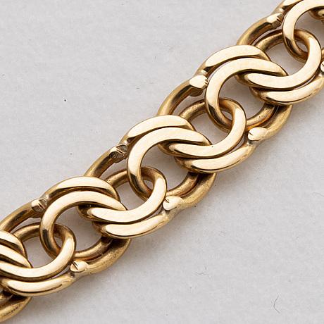 An 18k gold neck chain weight ca 22,9 gr