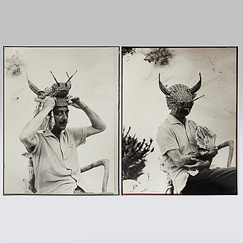 KARY LASCH, Two photographs of Salvador Dali.