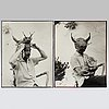 Kary lasch, two photographs of salvador dali
