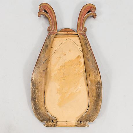 Mirror, made from horse harness