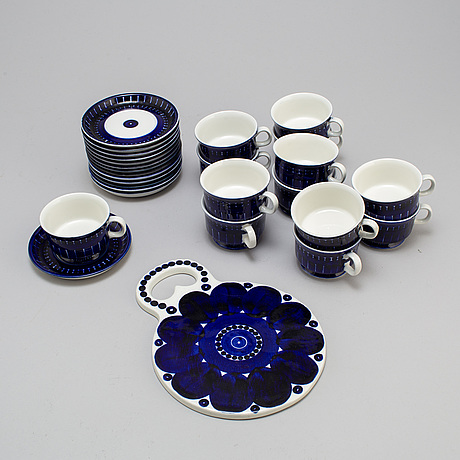 "Ulla procopÉ, kaffeservis, 14 delar, porslin, ""valencia"", arabia 1970 tal"