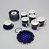 A 14 piece 'valencia' porcelain coffee set for arabia, 1970s