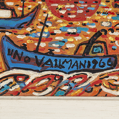 Uno vallman, oil on panel, signed and dated 1966.