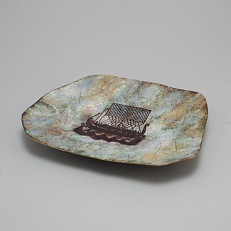 Wa bolin, an enamel and copper dish