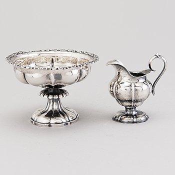MALJA ja KERMAKKO, hopeaa, Johan Niclas Chorin, Kokkola 1868 ja Anders Johan Holming, Hämeenlinna 1892.