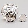 A silver bowl and a silver box, mark of gustaf adolf strömbäck, helsinki 1843 and carl fridolf ekholm, helsinki 1864